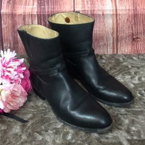 FRYE Womens Lindsay Plate Short Boot Black Sz 10B